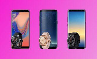 3 telefony Samsung Galaxy + smartwatch w T-Mobile