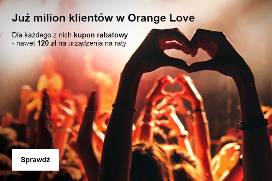 Orange LOVE rabat