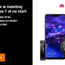 Sportowy zestaw z Huawei Mate 20 Lite w Orange za 1 zł