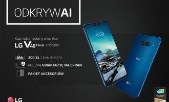 LG V40 ThinQ w Play – 300 zł zwrotu i prezenty gratis