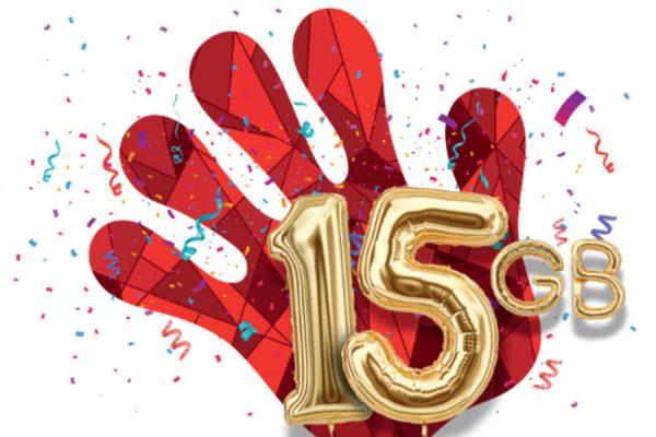 Heyah bonus 15 GB na urodziny