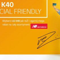 Kup LG K40 w Plusie i odbierz rabat na New Balance