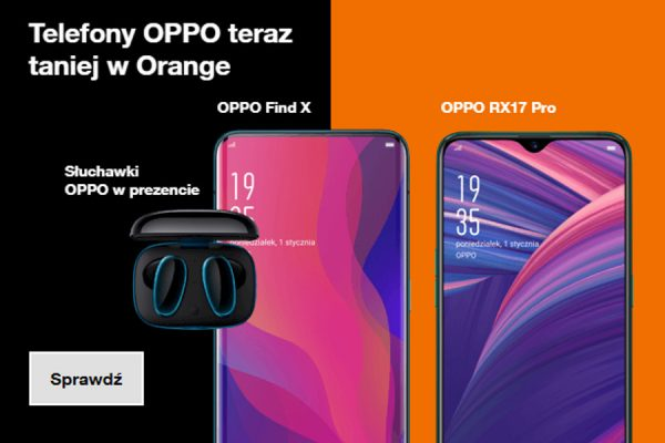 Orange Oppo Find X promocja