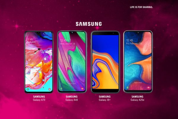 T-Mobile Samsung Galaxy A70, A40, A20e