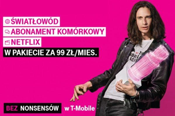 T-Mobile pakiet łączony telefon + internet + rozrywka