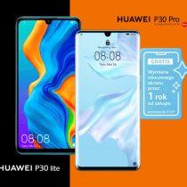 Seria Huawei P30 z ochroną ekranu w Orange