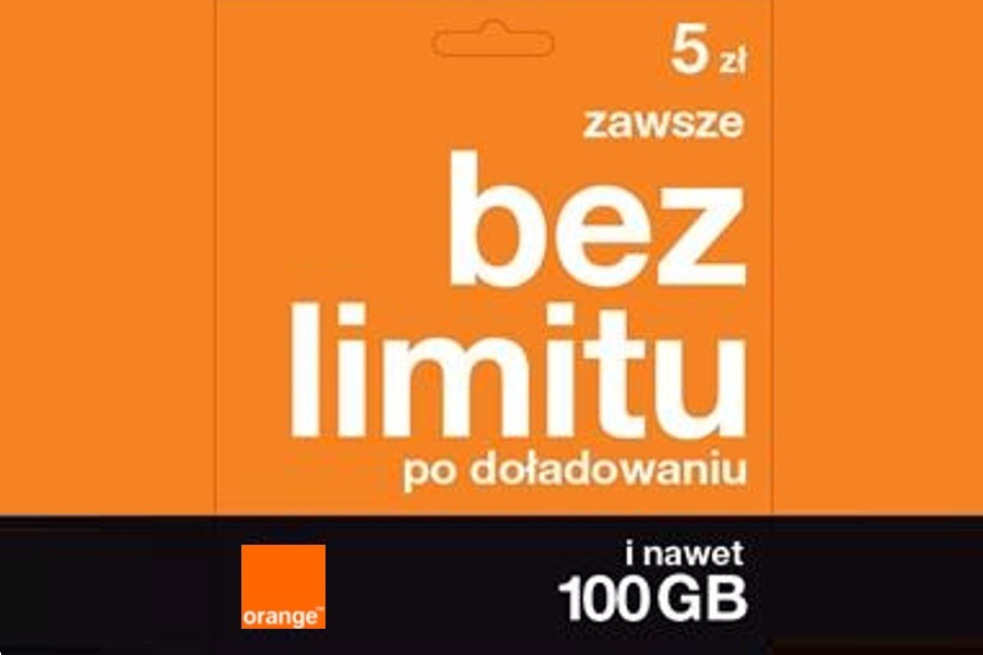 Orange na kartę 15 GB