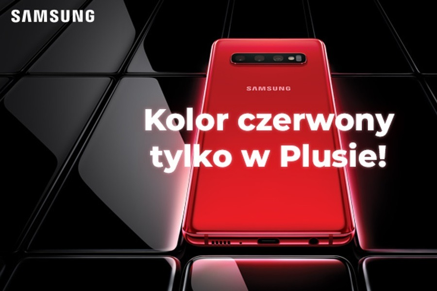 czerwony Samsung Galaxy S10