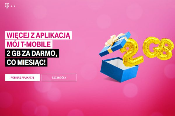 Aplikacja T-Mobile promocja 2 GB