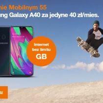 Samsung Galaxy A40 w Orange za 40 zł miesięcznie