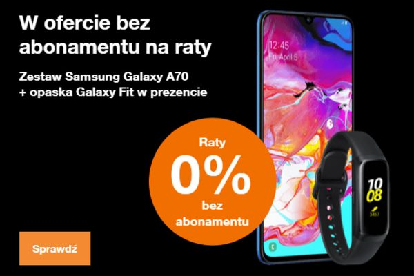 Samsung Galaxy A70 na raty Orange
