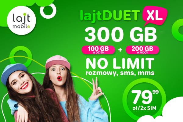 Lajt Mobile duet 300 GB