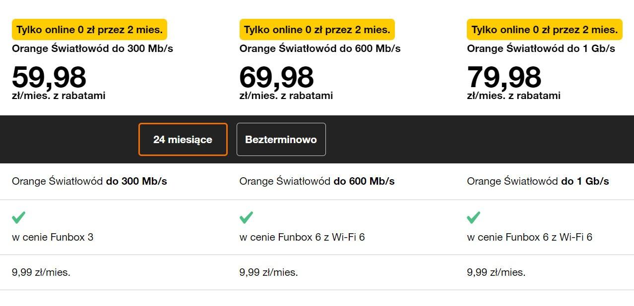 Orange Internet do domu
