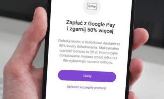 Promocyjne doładowanie w aplikacji Play24 z Google Pay
