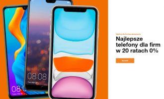 Najlepsze telefony w Orange dla firm na 20 rat 0%