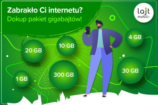 lajt mobile dodatkowy transfer GB