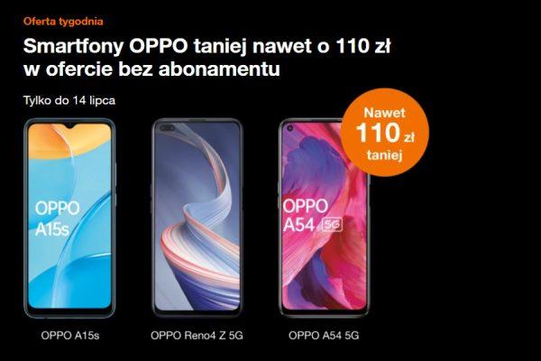 Orange wyprzedaż telefonów OPPO