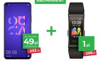 Huawei Nova 5T + Band 4 Pro w Plusie taniej o 550 zł!