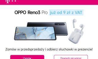 Przedsprzedaż OPPO Reno 3 Pro w T-Mobile od 9 zł