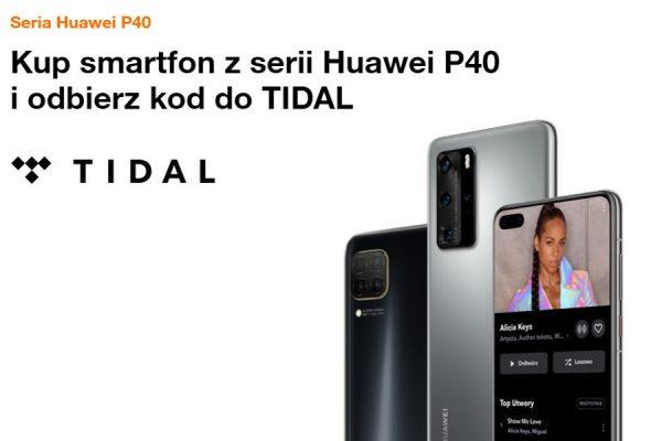 Huawei P40 promocja Tidal