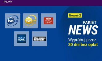 Pakiet NEWS w Play NOW za darmo przez 30 dni