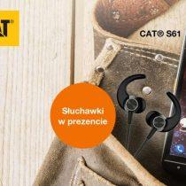 Cat S61 ze słuchawkami w Orange