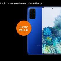Ciemnoniebieski Samsung Galaxy S20+ tylko w Orange
