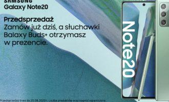 Przedsprzedaż Samsunga Galaxy Note20 i Note20 Ultra w Plusie!