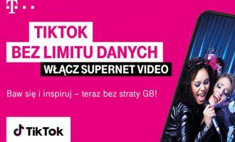 TikTok w pakiecie Supernet Video od T-Mobile