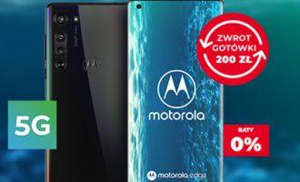 Zwrot 200 zł za zakup Motoroli Edge lub TV 55″ w Plusie