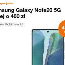 Samsung Galaxy Note20 5G taniej o 480 zł w Orange