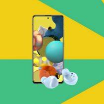 Samsung Galaxy A51 5G + prezent w Plushu