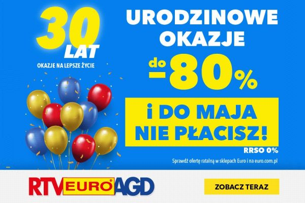 RTV EURO AGD promocja 30 lat