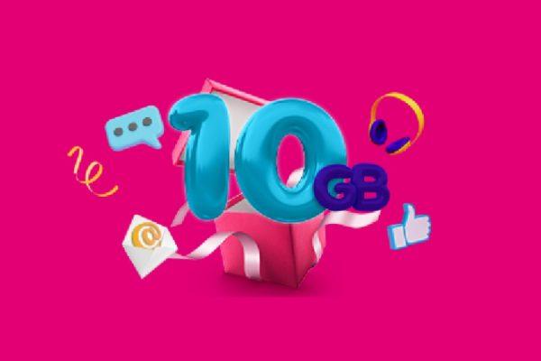 T-Mobile promocja 10 GB