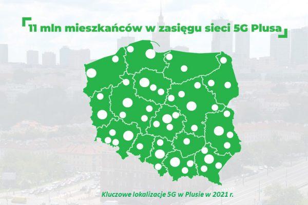 Plus 5G zasięg 2021