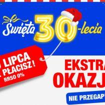 Święta 30-lecia w RTV EURO AGD – do lipca nie płacisz!