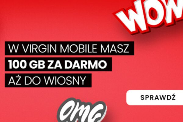Virgin Mobile promocja 100 GB