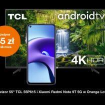 Redmi Note 9T 5G z telewizorem w Orange za 55 zł miesięcznie