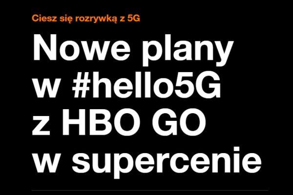 Nowy abonament Orange 5G 2021