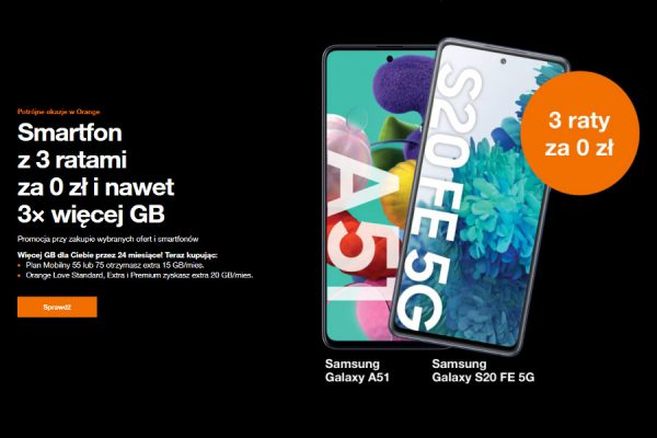 Orange promocja 3x GB