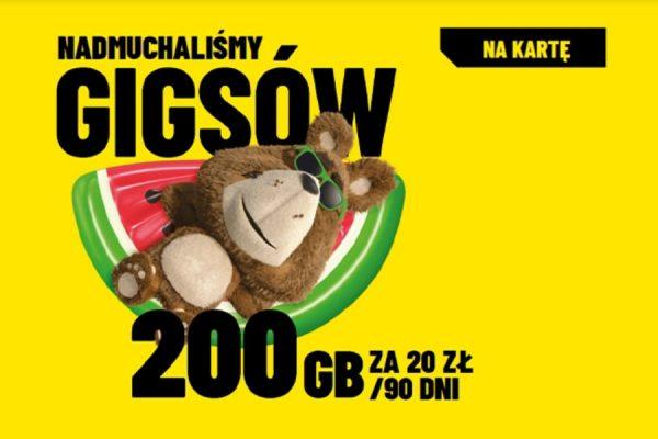 Plush promocja 200 GB