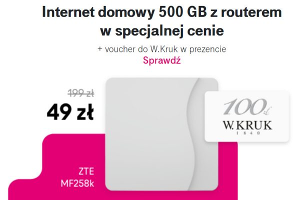 T-Mobile promocja voucher W.Kruk