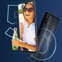 Motorola G50 5G z designerską butelką w Orange