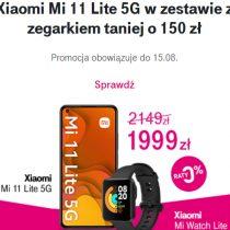 Zestaw Xiaomi Mi 11 Lite 5G taniej o 150 zł w T-Mobile