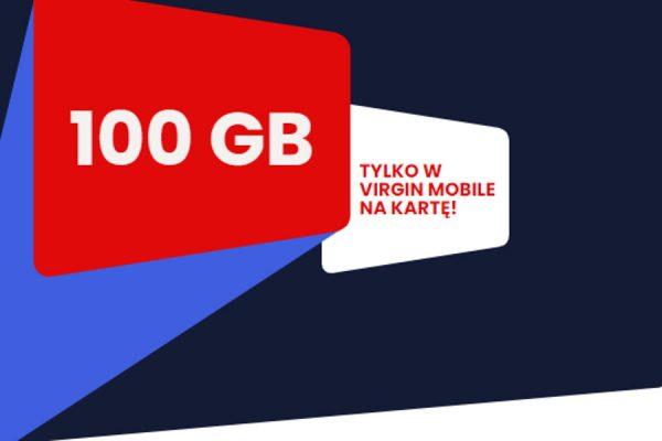 Virgin Mobile promocja 100 GB
