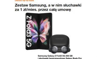 Samsung Galaxy Z Fold3 i Z Flip3 z prezentem w Orange