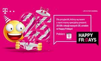 Happy Fridays w T-Mobile – ekstra 25 GB na urodziny!