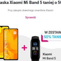 Opaska Mi Band 5 tańsza o 50% w zestawie Xiaomi T-Mobile