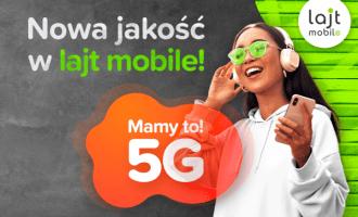 lajt mobile 5G od 39,99 zł miesięcznie!
