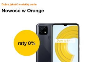 Nowość w Orange – realme C21 na raty 0%